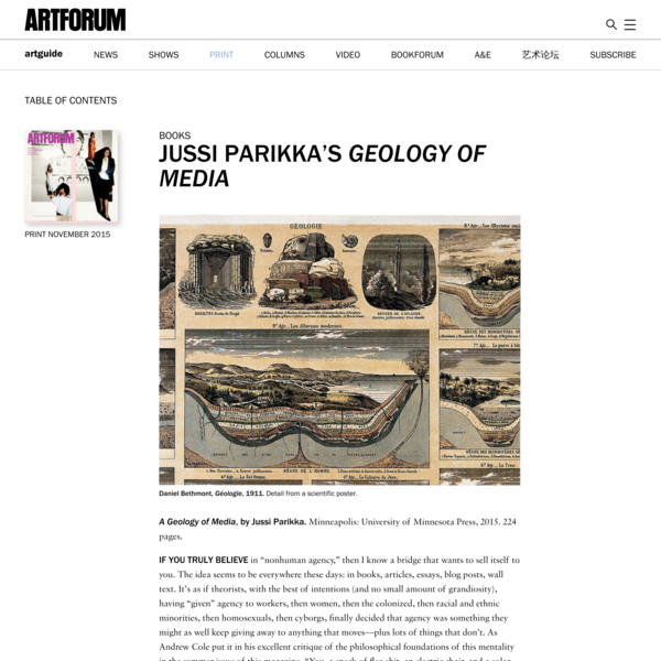 Ben Kafka on Jussi Parikka's Geology of Media