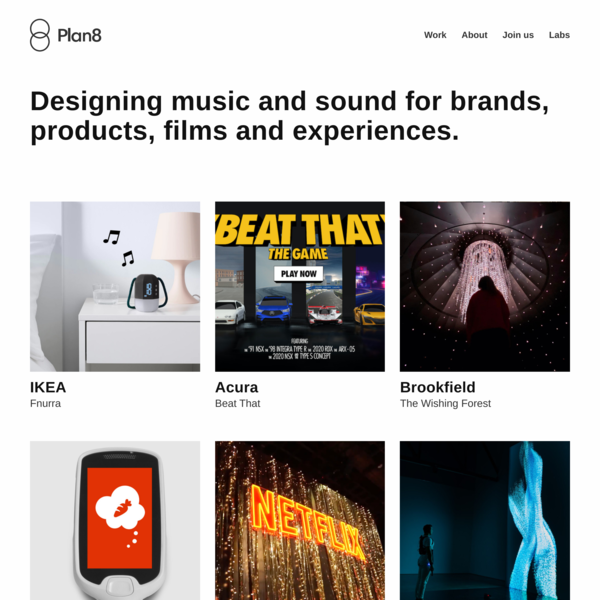 Plan8   a design agency for music and sound