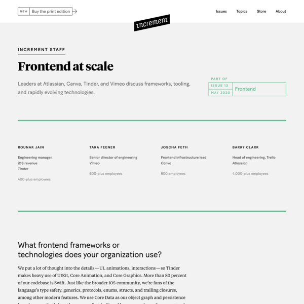 Frontend at scale – Increment: Frontend