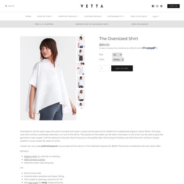 The Oversized Shirt - VETTA