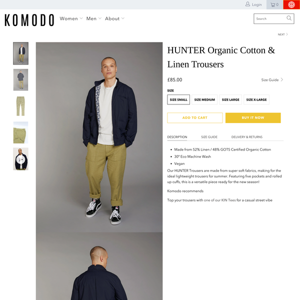 HUNTER Organic Cotton & Linen Trousers