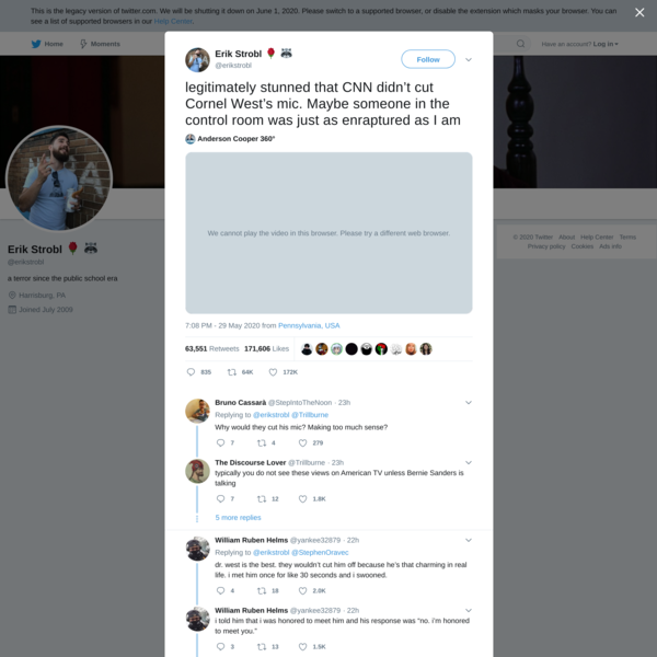 Erik Strobl 🌹 🦝 on Twitter