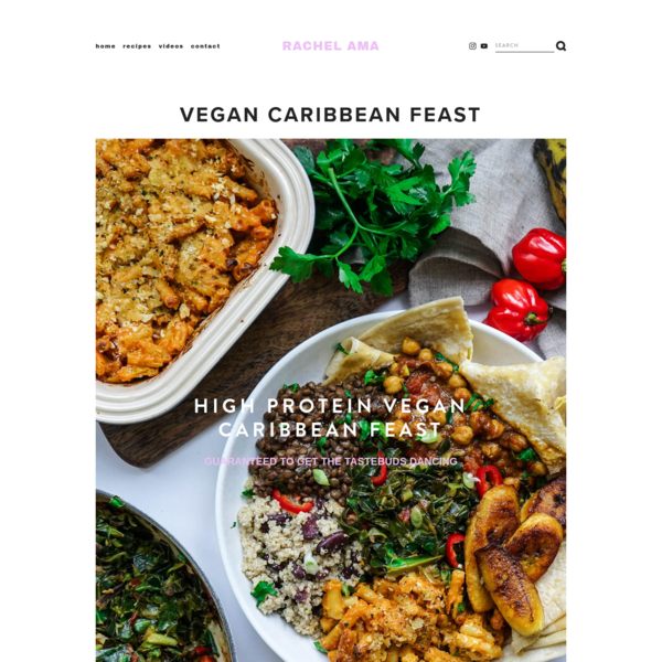 Vegan Caribbean Feast - rachel ama