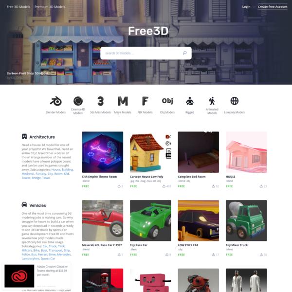 3D Models for Free - Free3D.com