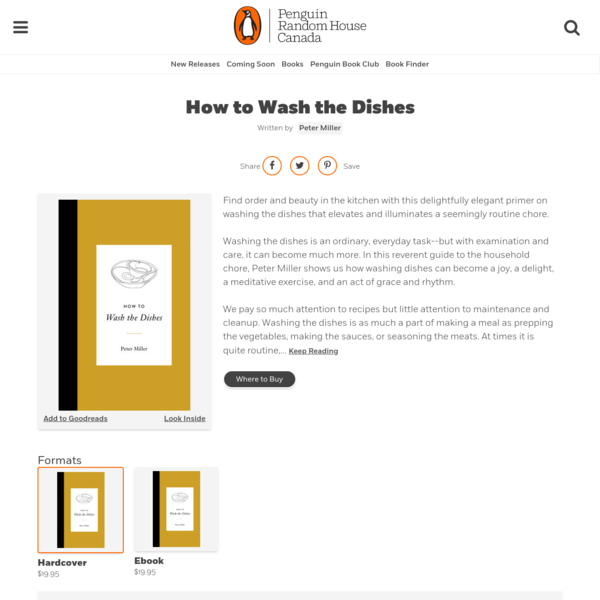 How to Wash the Dishes by Peter Miller | Penguin Random House Canada
