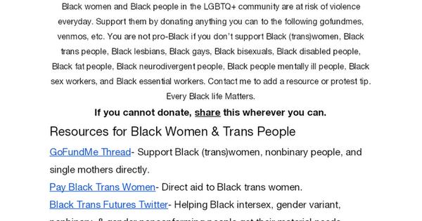 Support Black People MasterDoc