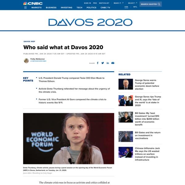 Who said what at Davos 2020