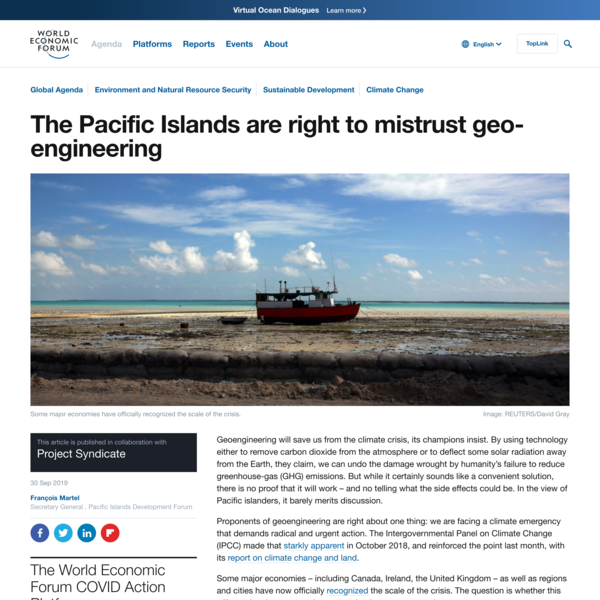 The Pacific Islands are right to mistrust geo-engineering