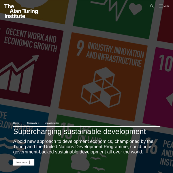 Supercharging sustainable development | The Alan Turing Institute