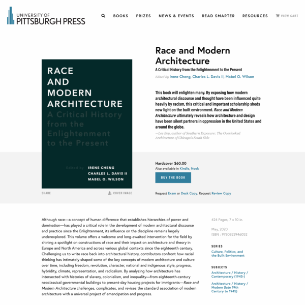 Race and Modern Architecture - University of Pittsburgh Press