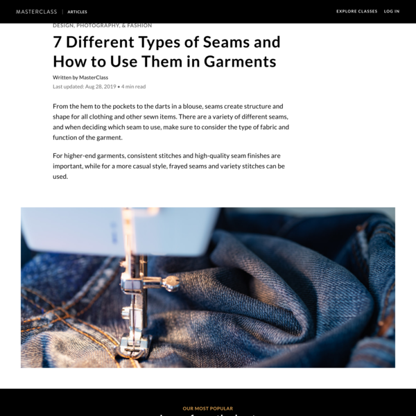 7 Different Types of Seams and How to Use Them in Garments - 2020 - MasterClass