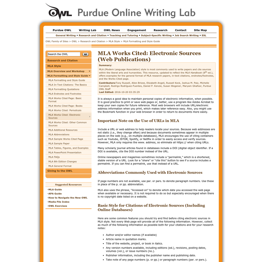 How To Quote In Mla: Are.na / Purdue OWL: MLA Formatting And Style Guide