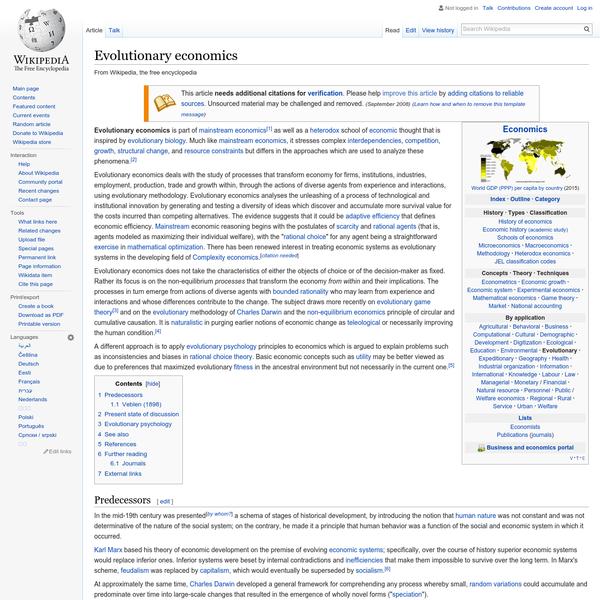 Evolutionary economics - Wikipedia