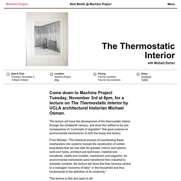 The Thermostatic Interior
