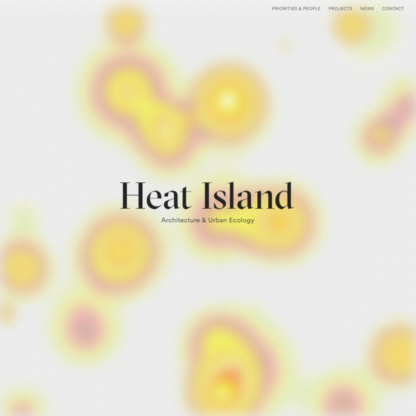 Heat Island – Architecture & Urban Ecology