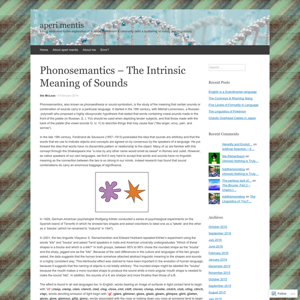 Phonosemantics - The Intrinsic Meaning of Sounds