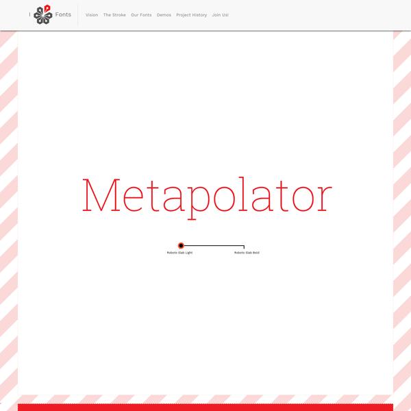 Metapolator - Free Font Editor for Designing Typeface Families