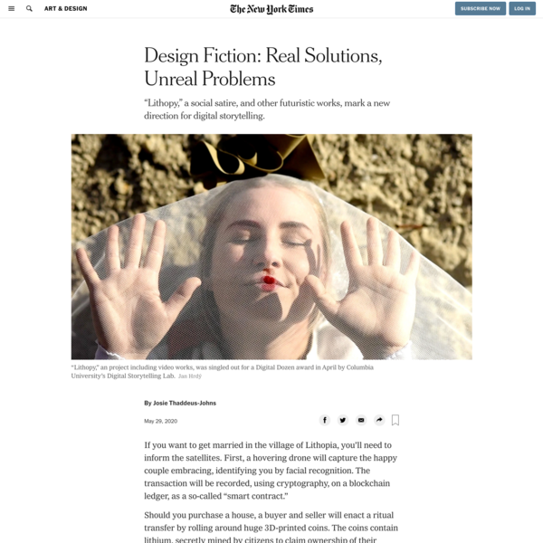 Design Fiction: Real Solutions, Unreal Problems