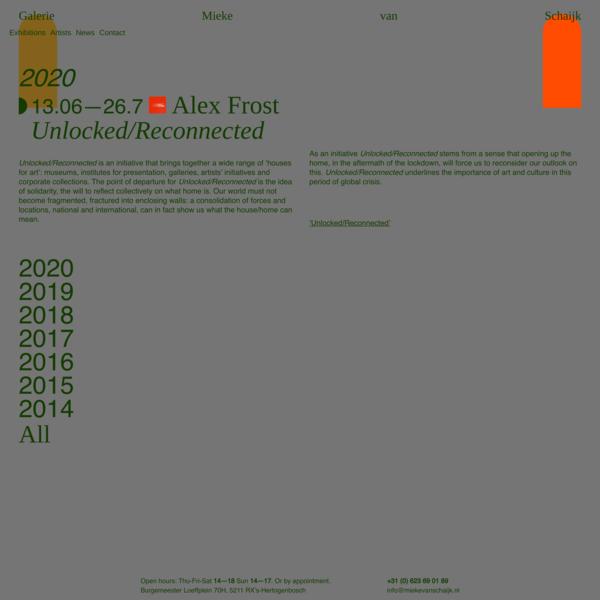 Unlocked/Reconnected – Galerie Mieke van Schaijk