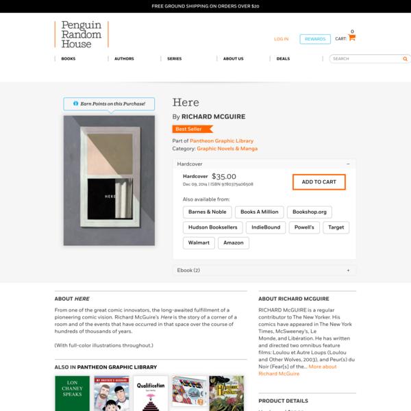 Here by Richard McGuire: 9780375406508   PenguinRandomHouse.com: Books