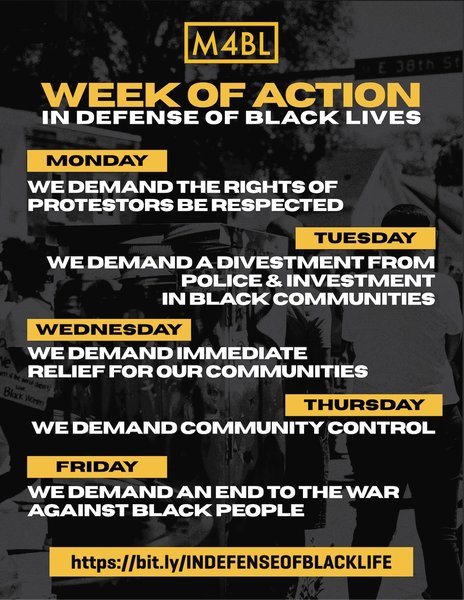 WEEK OF ACTION – M4BL