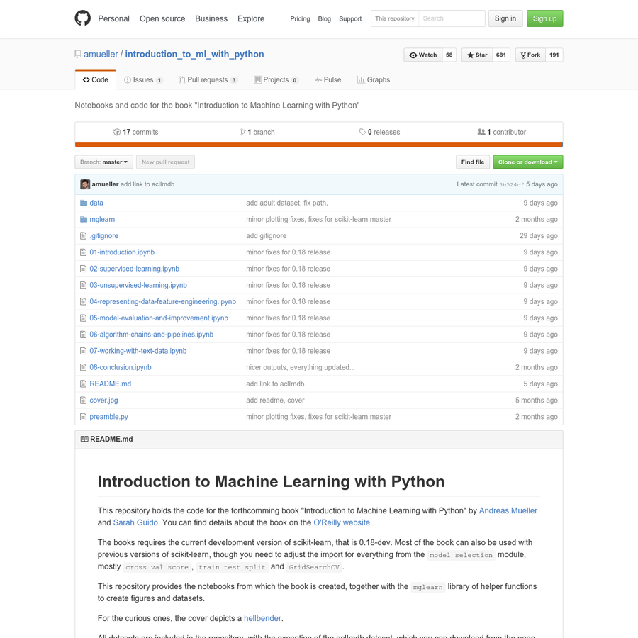"introduction_to_ml_with_python - Notebooks and code for the book ""Introduction to Machine Learning with Python"""