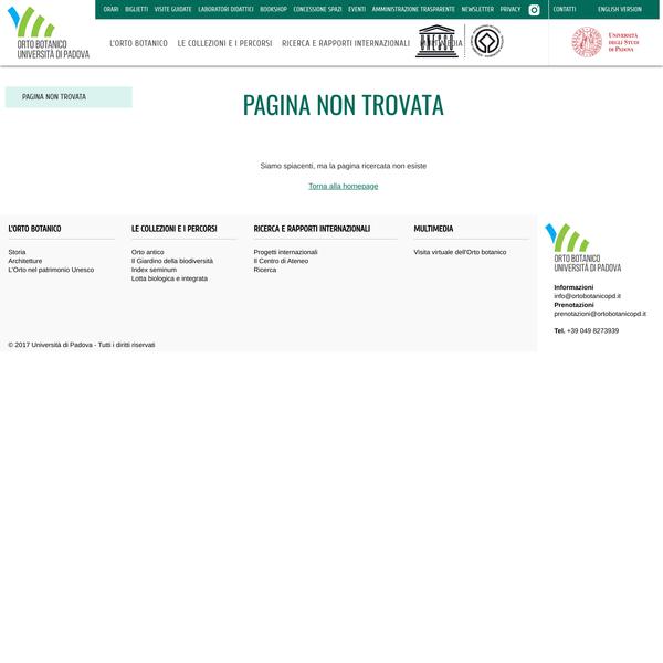 Pagina non trovata   OrtoBotanico di Padova