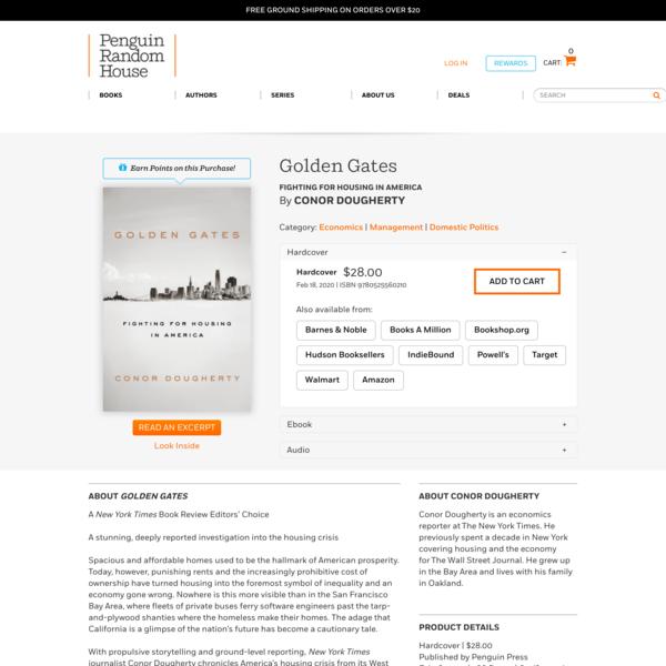 Golden Gates by Conor Dougherty: 9780525560210 | PenguinRandomHouse.com: Books