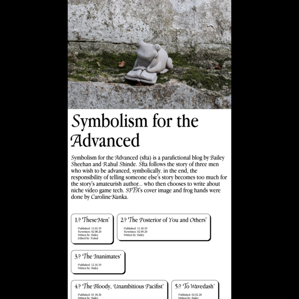 Symbolism for the Advanced | Home