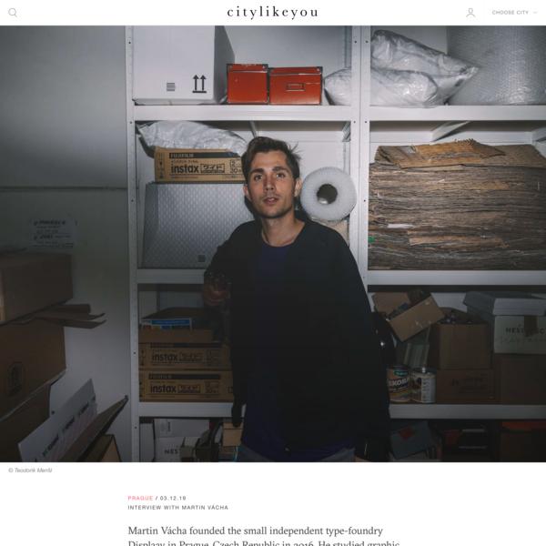 Interview with Martin Vácha — citylikeyou