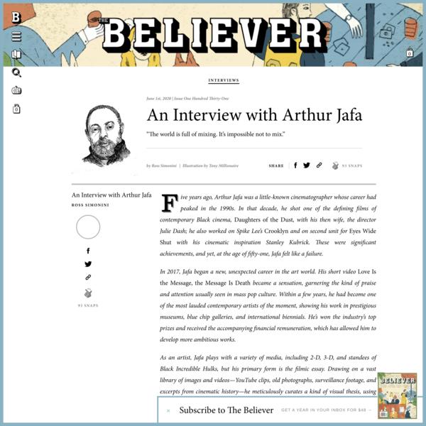 An Interview with Arthur Jafa - Believer Magazine