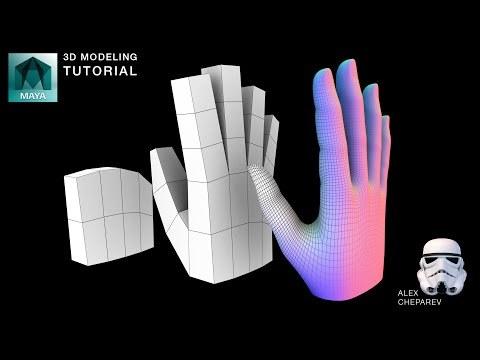 Easy Hand Modeling Tutorial in Maya