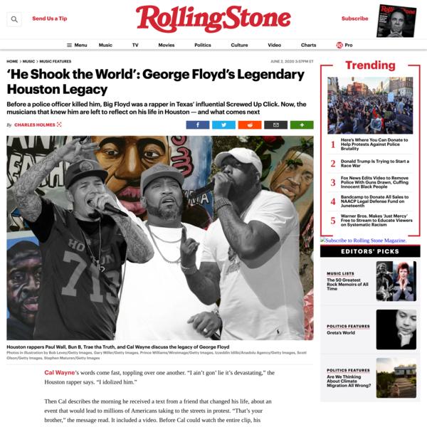 'He Shook the World': George Floyd's Legendary Houston Legacy