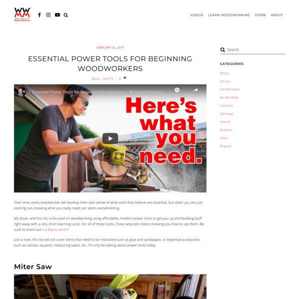 Essential Power Tools for Beginning Woodworkers – Woodworking for Mere Mortals