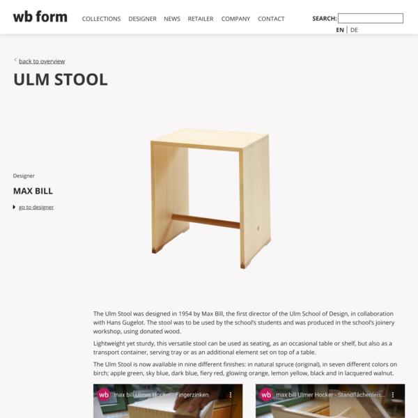 Ulm Stool original | wb form