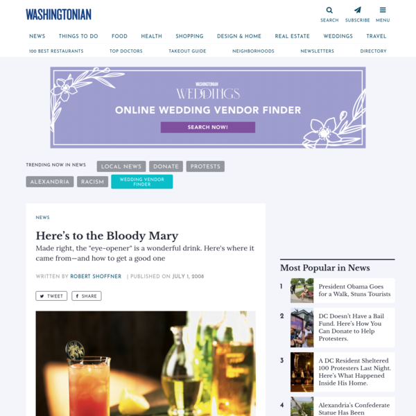 Here's to the Bloody Mary | Washingtonian (DC)