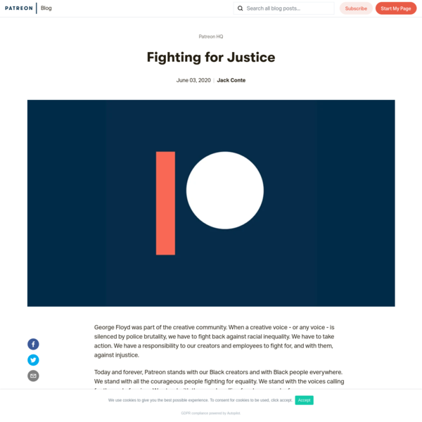Fighting for Justice | Patreon Blog