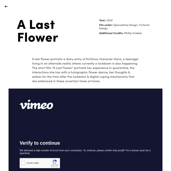 A Last Flower