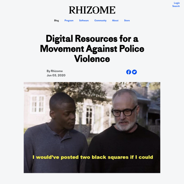 Digital Resources for a Movement Against Police Violence