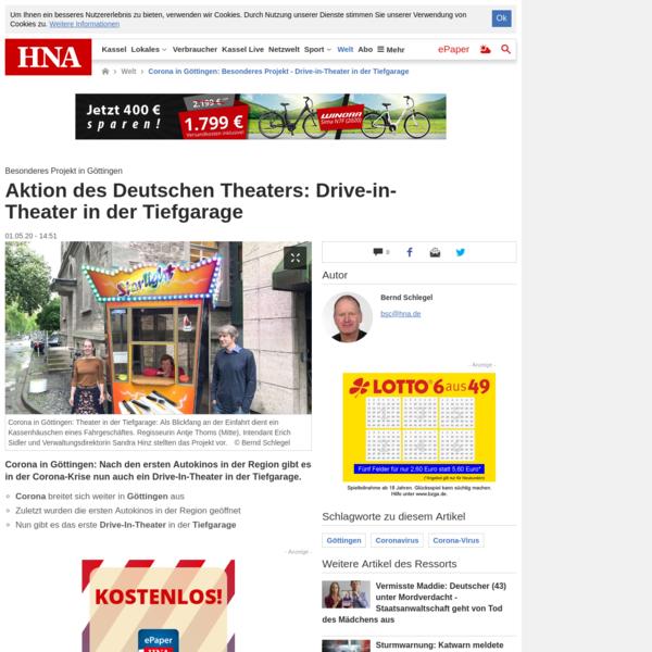 Aktion des Deutschen Theaters: Drive-in-Theater in der Tiefgarage