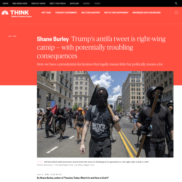 Opinion | Trump has no idea what antifa is. But his crusade against it may end badly.