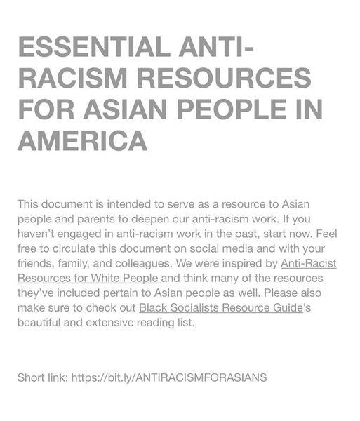 "FAR-NEAR on Instagram: ""LINK IN BIO #asiansforblackpower #antiracismresources #solidarity"""