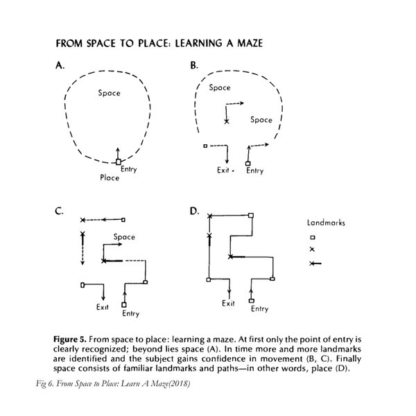 Yi-Fu: from space to place, learning a maze