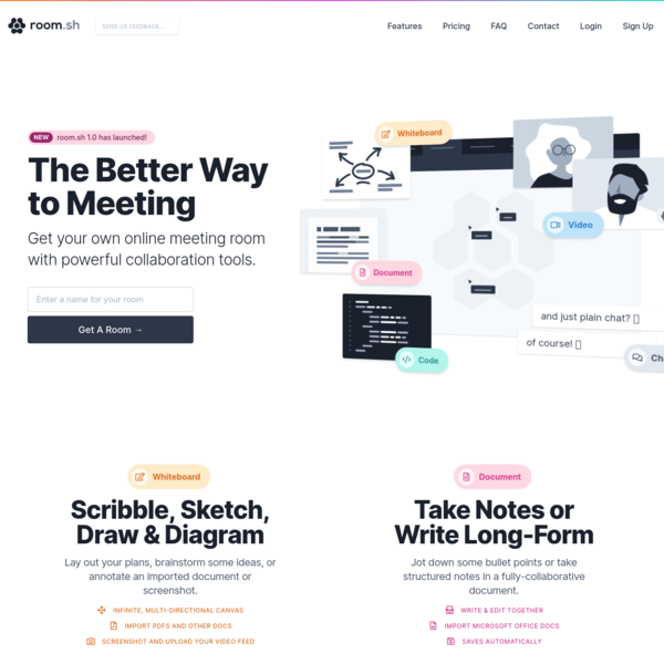 room.sh | The Better Way To Meeting