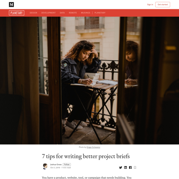 7 tips for writing better project briefs