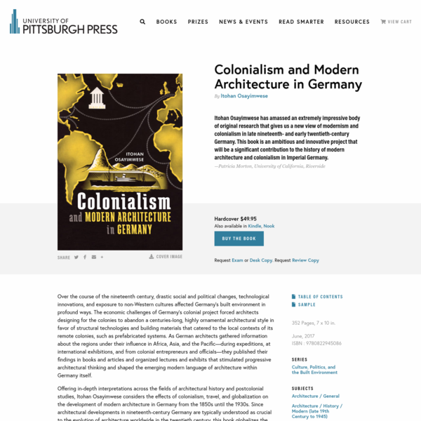 Colonialism and Modern Architecture in Germany - University of Pittsburgh Press