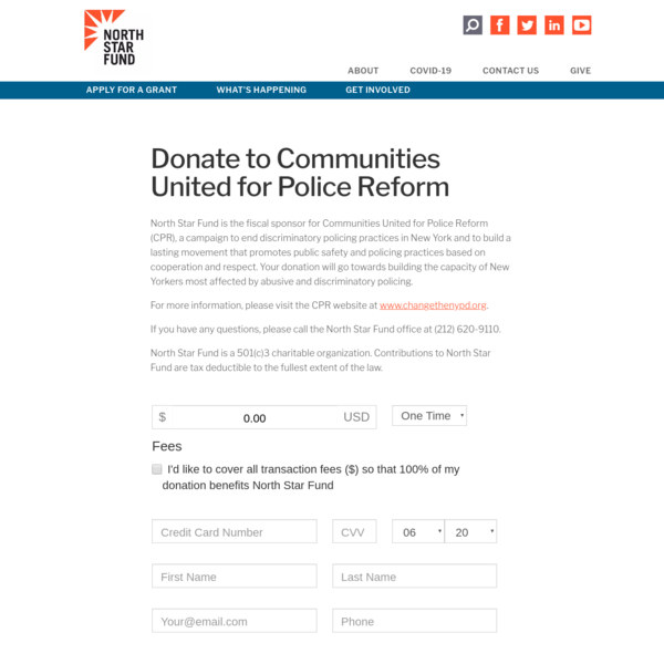 Donate to Communities United for Police Reform