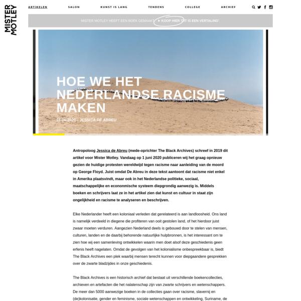 Hoe we het Nederlandse racisme maken
