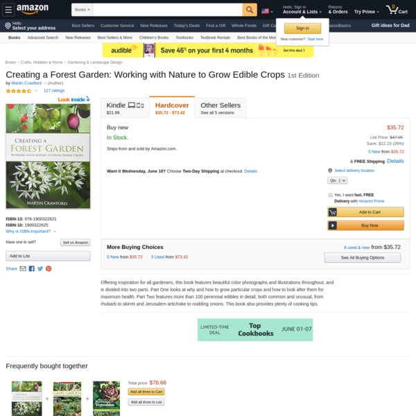 Creating a Forest Garden: Working with Nature to Grow Edible Crops: Crawford, Martin: 8580001059037: Amazon.com: Books