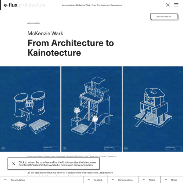 From Architecture to Kainotecture